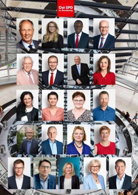 Mitglieder der SPD-Landesgruppe Ost