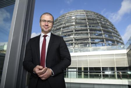 Frank Junge mit der Reichstagskuppel