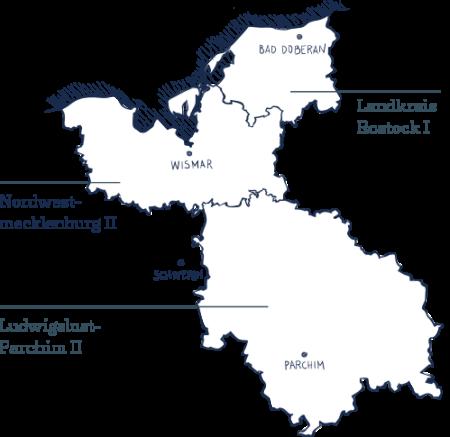 Karte des Wahlkreis 13